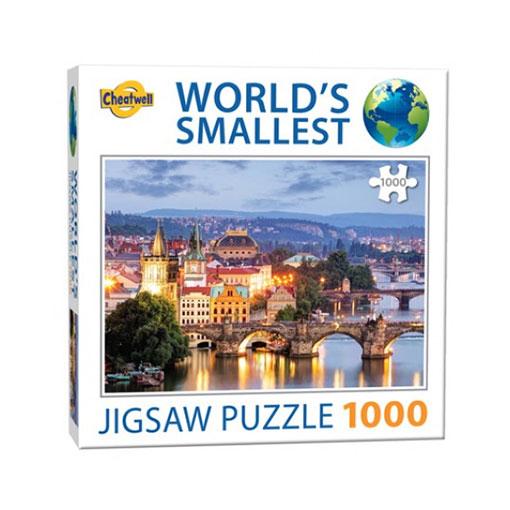Världens minsta pussel (1000 bitar) - Prags Bridges