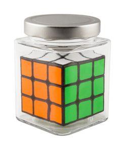 Speedcube in glass jar