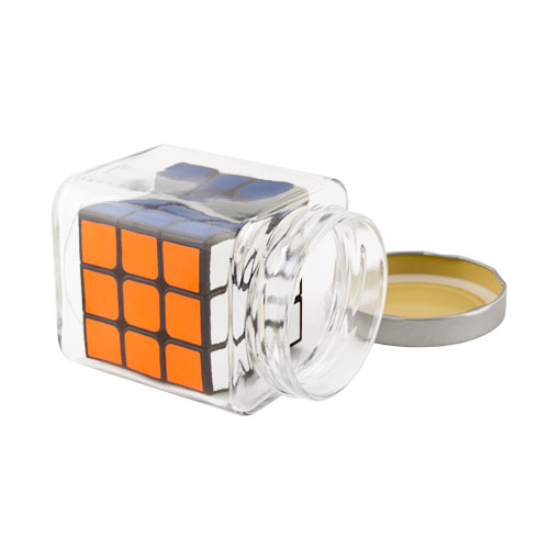 """Speedcube in glass jar """"The impossible cube"""""""